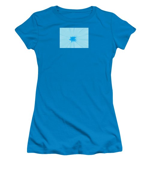 Turquoise Flower Abstract Women's T-Shirt (Junior Cut) by Linda Velasquez