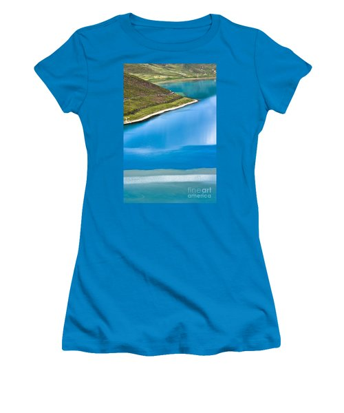 Turquoise Water Women's T-Shirt (Athletic Fit)