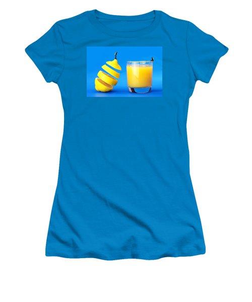 Underwater Diving On A Floating Orange Women's T-Shirt (Junior Cut) by Paul Ge