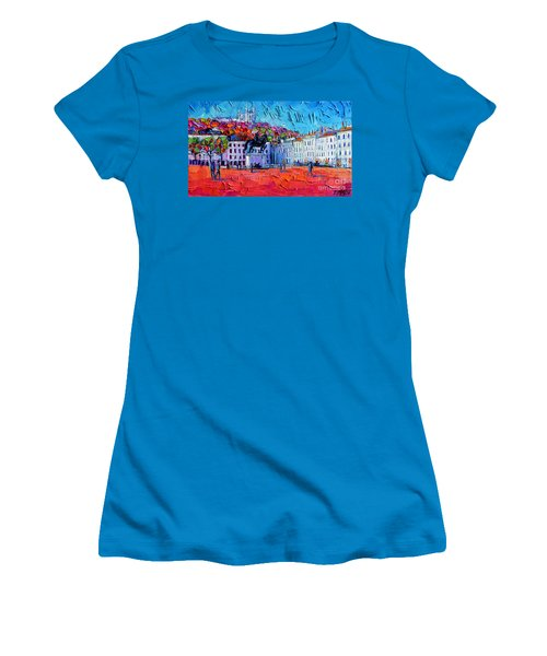 Urban Impression - Bellecour Square In Lyon France Women's T-Shirt (Athletic Fit)