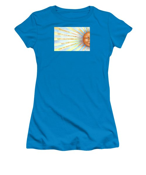 Women's T-Shirt (Junior Cut) featuring the painting Was A Sunny Day by Lora Serra