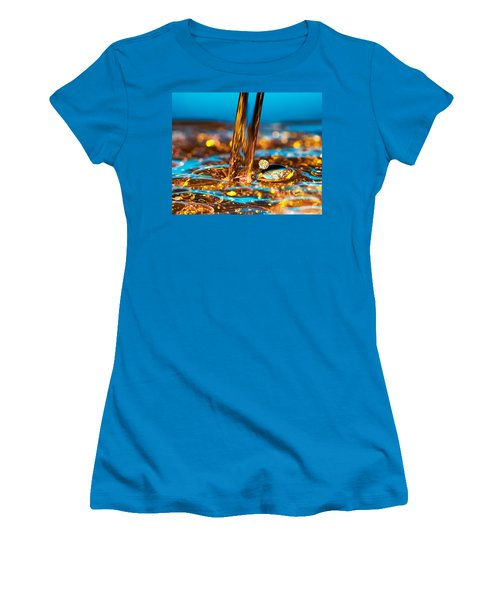 Water And Oil Women's T-Shirt (Athletic Fit)