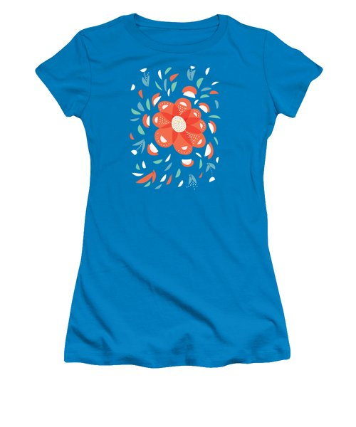 Whimsical Red Flower Women's T-Shirt (Athletic Fit)