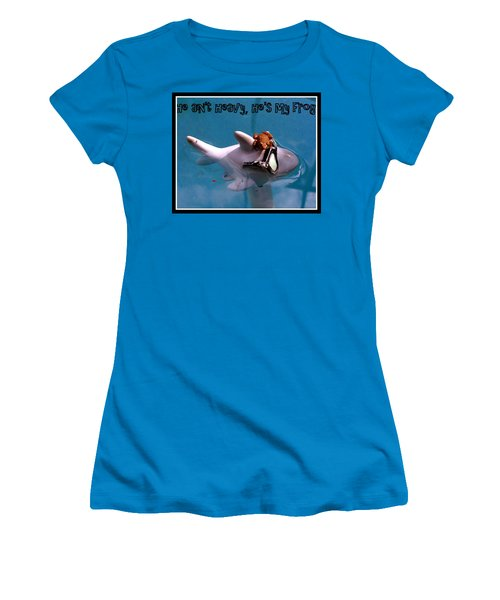 Women's T-Shirt (Junior Cut) featuring the photograph Whimsical Shark by Irma BACKELANT GALLERIES