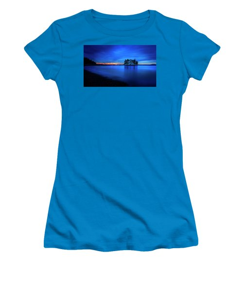 Women's T-Shirt (Junior Cut) featuring the photograph Whytecliff Sunset by John Poon