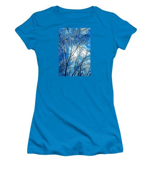 Women's T-Shirt (Junior Cut) featuring the photograph Winter Solstice by Michael Nowotny