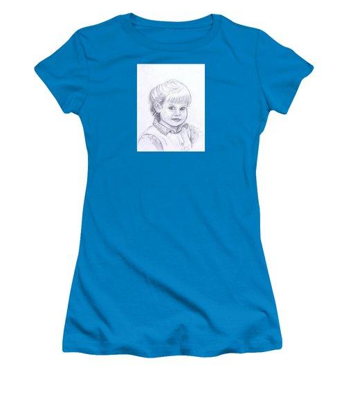 Young Girl Women's T-Shirt (Junior Cut) by Francine Heykoop