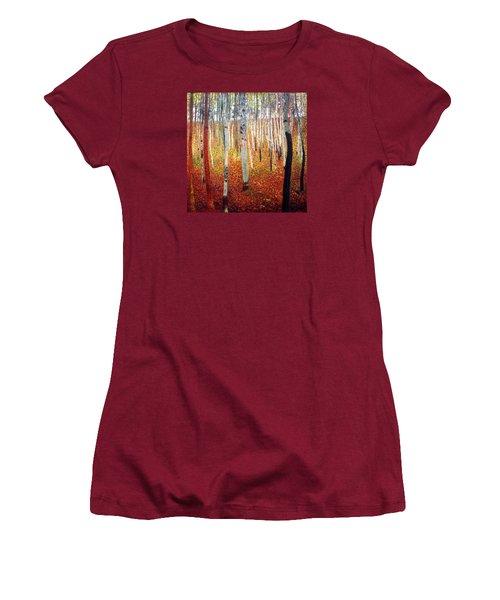 Forest Of Beech Trees Women's T-Shirt (Junior Cut) by Gustav Klimt