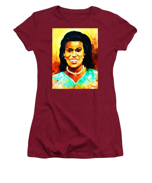 Michelle Obama Women's T-Shirt (Junior Cut) by Al Brown