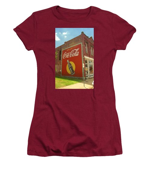 Route 66 - Coca Cola Ghost Mural Women's T-Shirt (Athletic Fit)