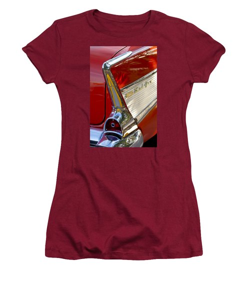 1957 Chevrolet Belair Taillight Women's T-Shirt (Junior Cut) by Jill Reger