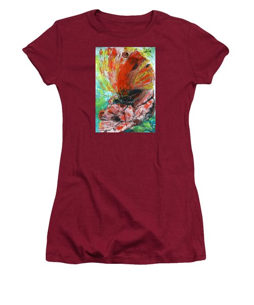 Butterfly And Flower Women's T-Shirt (Athletic Fit)