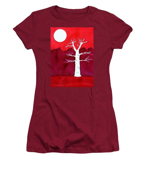 Canyon Tree Original Painting Women's T-Shirt (Junior Cut) by Sol Luckman