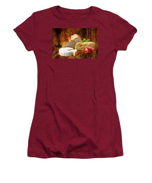 Norwegian Jarlsberg And Camembert Women's T-Shirt (Athletic Fit)