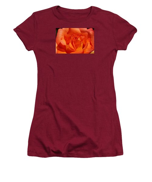 Orange Rose 1 Women's T-Shirt (Junior Cut) by Rudi Prott