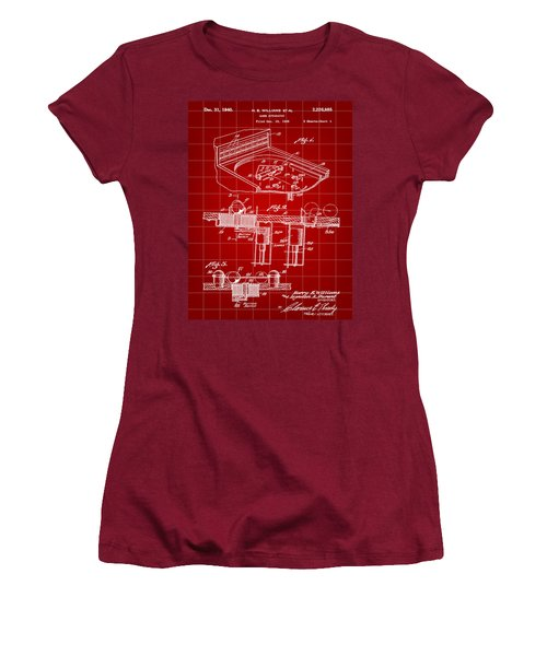 Pinball Machine Patent 1939 - Red Women's T-Shirt (Athletic Fit)
