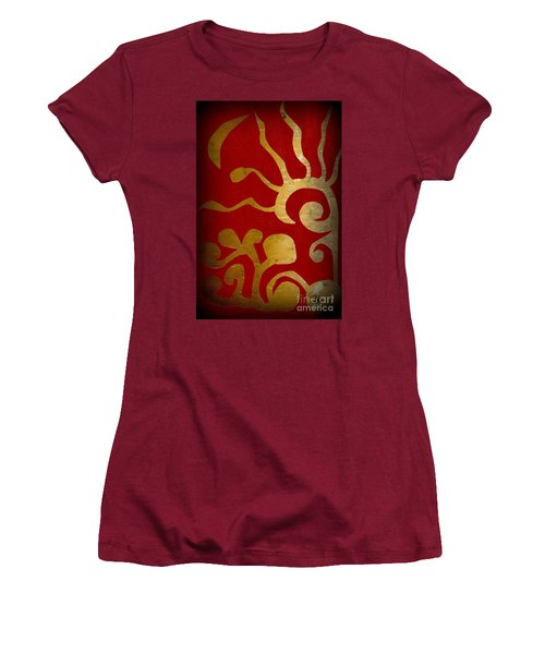 Abstract Gold Collage Women's T-Shirt (Athletic Fit)