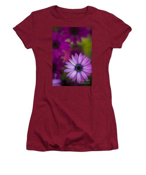 African Gerbera Standout Women's T-Shirt (Junior Cut) by Mike Reid