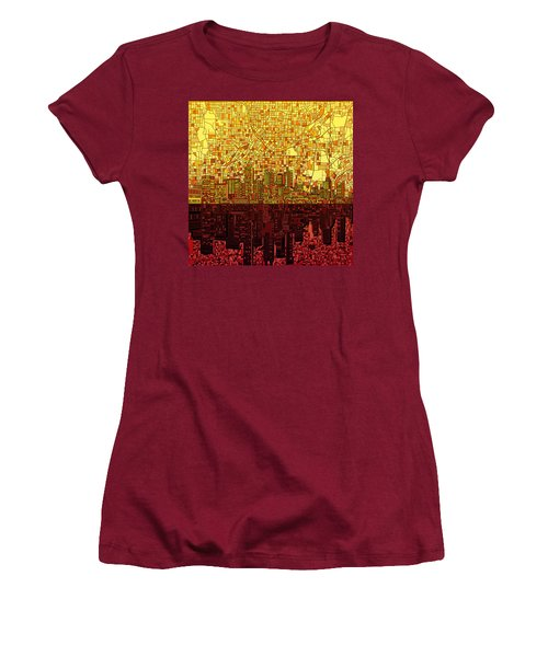 Atlanta Skyline Abstract 3 Women's T-Shirt (Athletic Fit)