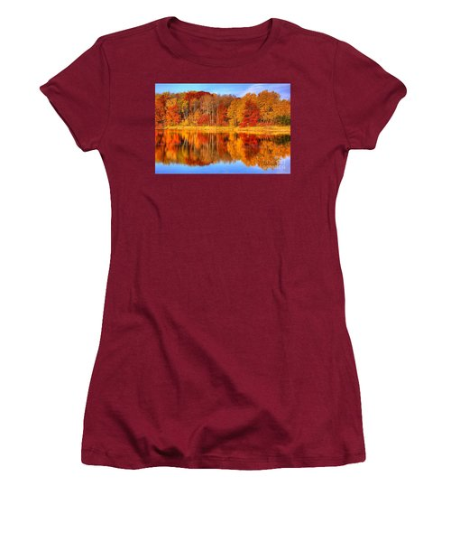 Autumn Reflections Minnesota Autumn Women's T-Shirt (Athletic Fit)