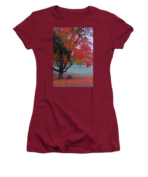 Women's T-Shirt (Junior Cut) featuring the photograph Autumn Splendor by Lisa Phillips