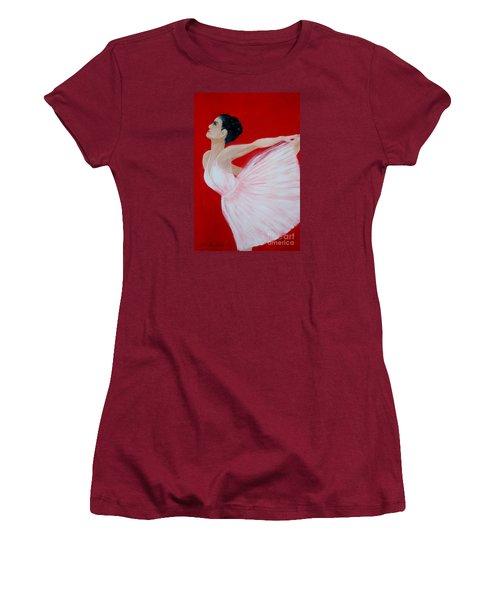 Ballerina.  Grace. Inspirations Collection Women's T-Shirt (Junior Cut) by Oksana Semenchenko