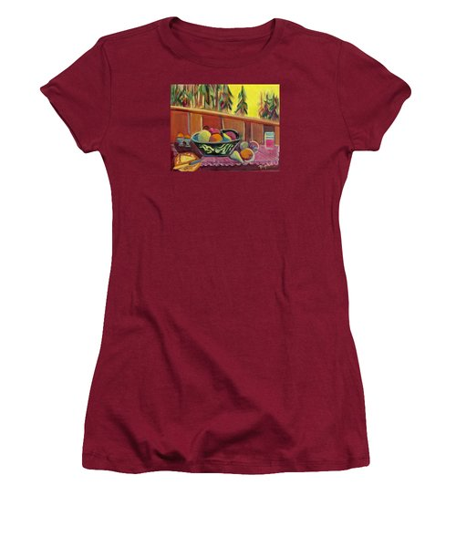 Women's T-Shirt (Junior Cut) featuring the painting Bavarian Breakfast With Strawberry Milk by Betty Pieper