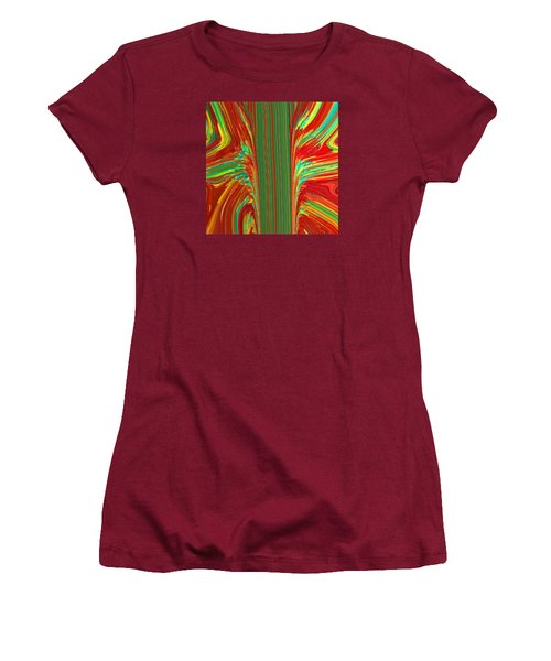 Women's T-Shirt (Junior Cut) featuring the painting Bird Of Paradise I  C2014 by Paul Ashby
