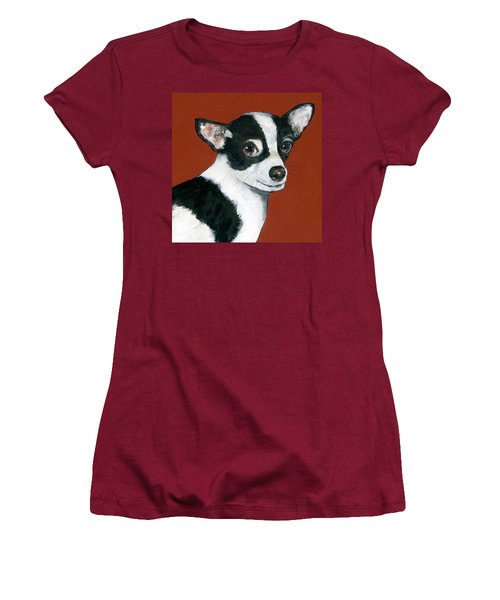 Black And White Chihuahua Women's T-Shirt (Athletic Fit)