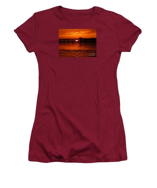 Blazing Sunset Women's T-Shirt (Junior Cut) by Vicki Spindler