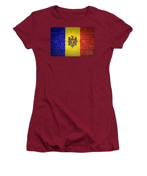 Brick Wall Moldova Women's T-Shirt (Athletic Fit)
