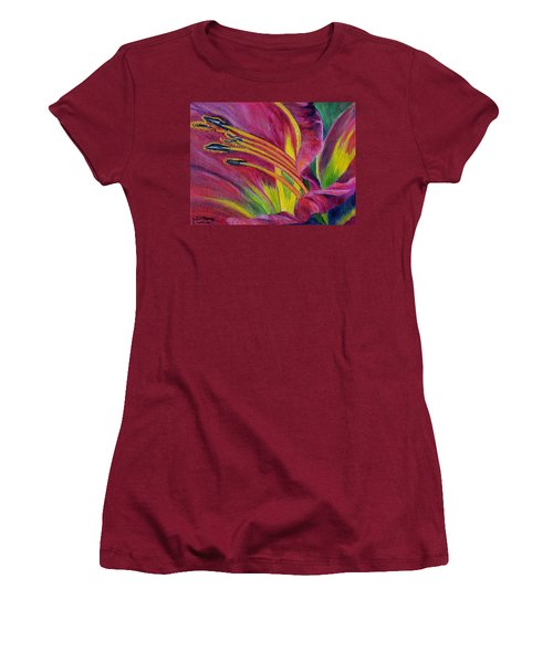 Women's T-Shirt (Junior Cut) featuring the painting Brilliance Within by Marilyn  McNish