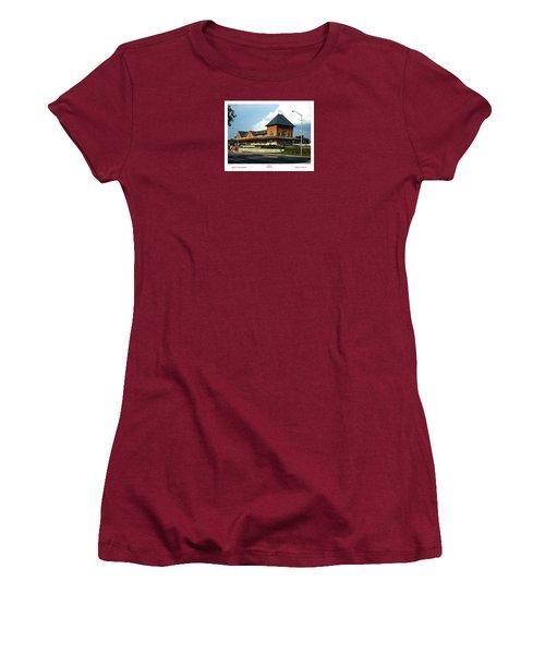 Bristol Train Station Bristol Virginia Women's T-Shirt (Athletic Fit)