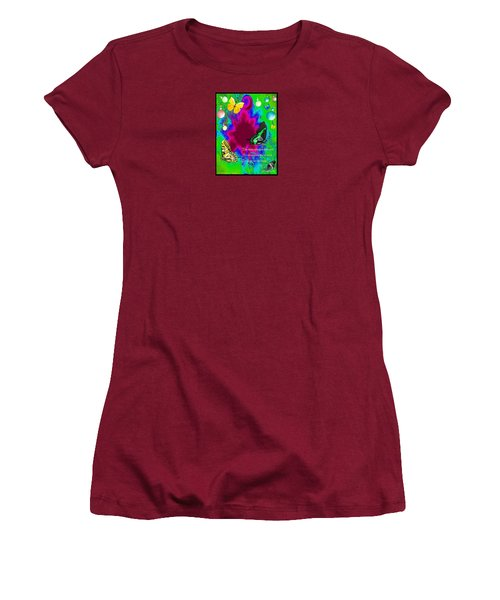 Butterfly Shows The Way Women's T-Shirt (Athletic Fit)
