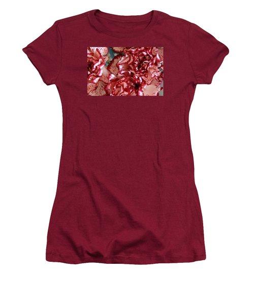 Carnations Women's T-Shirt (Junior Cut) by Joe Kozlowski