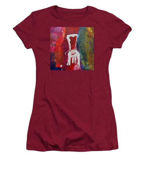 Women's T-Shirt (Junior Cut) featuring the painting Chair by Robin Maria Pedrero
