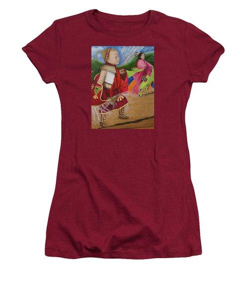 Cherokee Ribbon Dancers Women's T-Shirt (Athletic Fit)