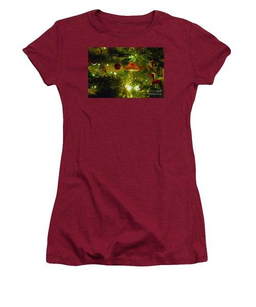 Women's T-Shirt (Junior Cut) featuring the photograph Christmas Card by Cassandra Buckley