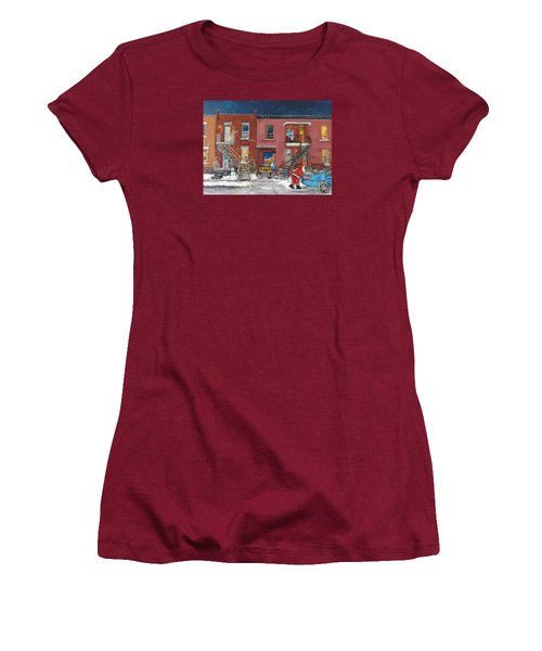 Christmas In The City Women's T-Shirt (Junior Cut) by Reb Frost
