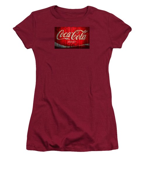 Coca Cola Barn Women's T-Shirt (Junior Cut) by Dan Sproul