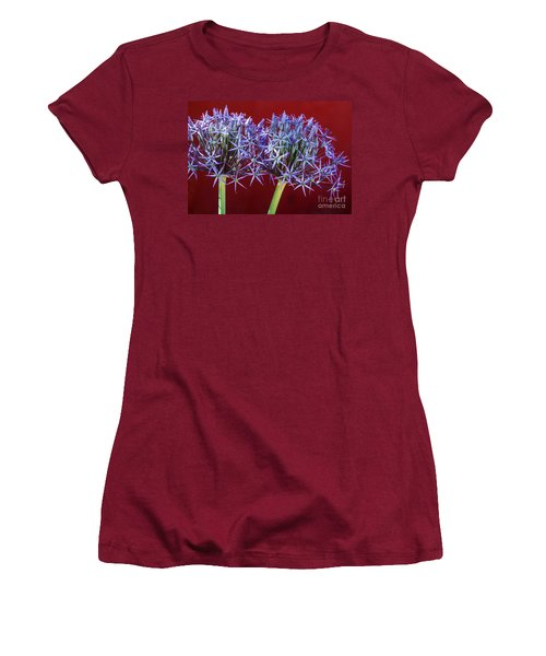 Women's T-Shirt (Junior Cut) featuring the photograph Flowering Onions by Roselynne Broussard