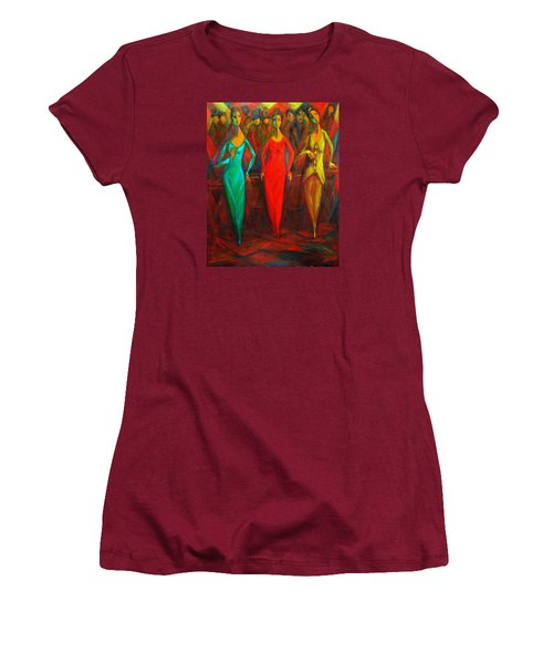 Cubism Dance II Women's T-Shirt (Athletic Fit)