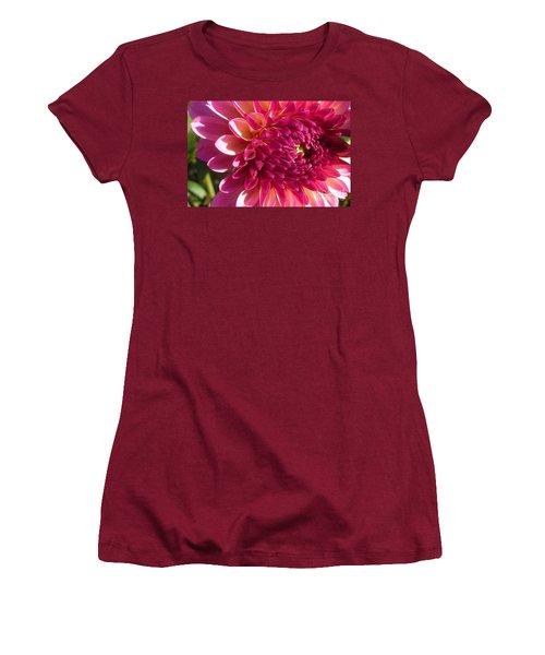 Dahlia Pink 1 Women's T-Shirt (Junior Cut) by Susan Garren