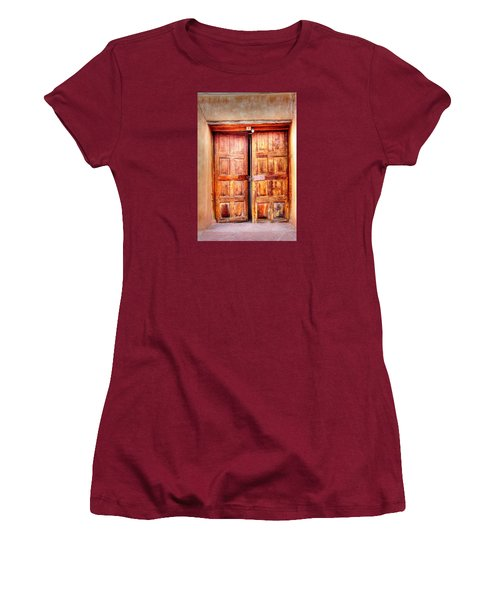 Doors To The Inner Santuario De Chimayo Women's T-Shirt (Athletic Fit)