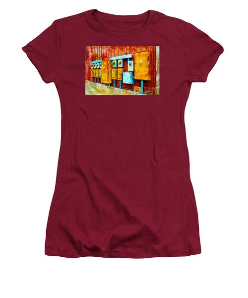 Electrical Boxes Iv Women's T-Shirt (Athletic Fit)