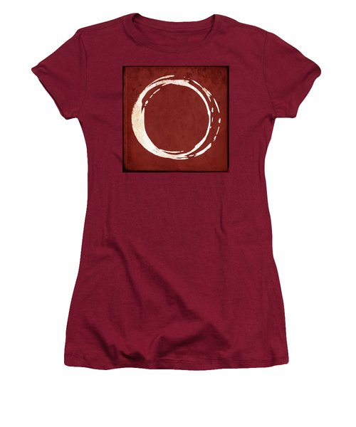 Enso No. 107 Red Women's T-Shirt (Athletic Fit)
