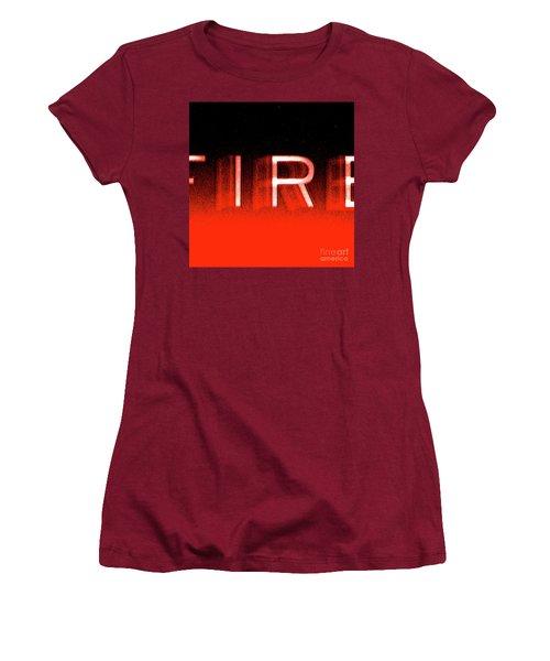Fire Women's T-Shirt (Junior Cut) by CML Brown