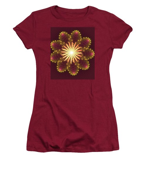 Fire Flower Mandala Women's T-Shirt (Athletic Fit)
