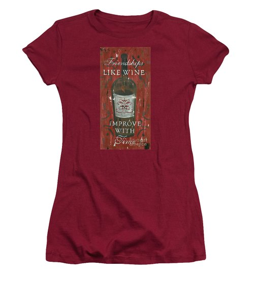 Friendships Like Wine Women's T-Shirt (Athletic Fit)