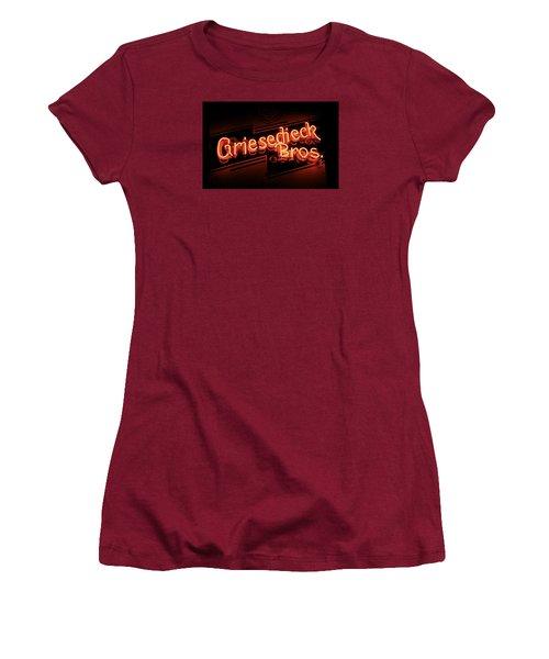 Griesedieck Brothers Beer Neon Sign Women's T-Shirt (Junior Cut) by Jane Eleanor Nicholas